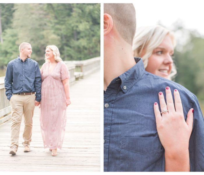 Yates Mill Engagement | Amber & Robert | NC Wedding Photographer