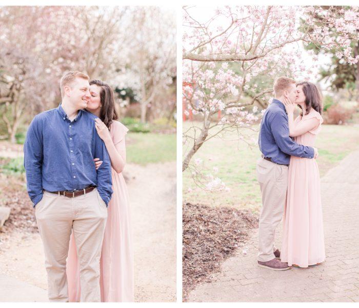 JC Raulston Arboretum Engagement Session | Lindsay & Joey | NC Wedding Photographer