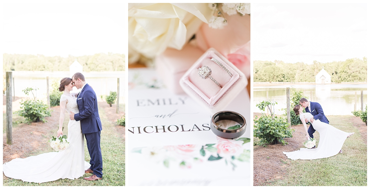 Emily & Nick | A Blush and Navy Southern Wedding | The Barn at Woodlake Meadows