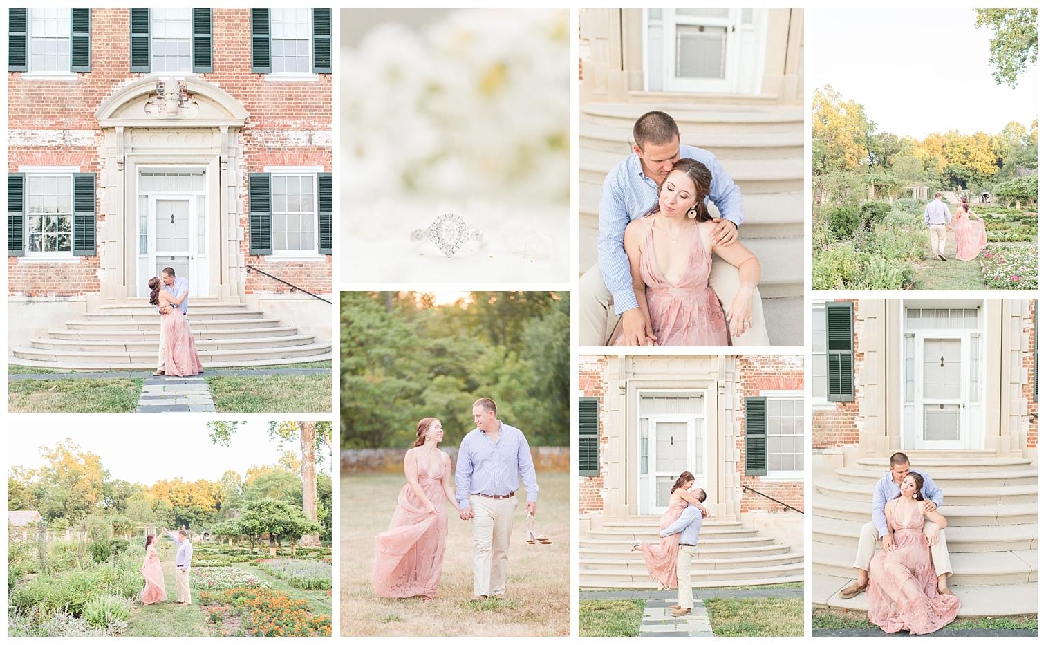 Ashley & Tyler | Chatham Manor Engagement | Fredericksburg VA Wedding Photographer