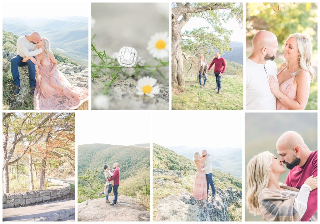 Engagement session, Blue Ridge Parkway Virginia, Virginia Wedding Photographer